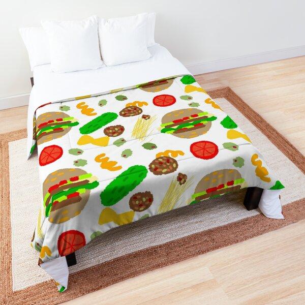 Burgers and macaroni Comforter