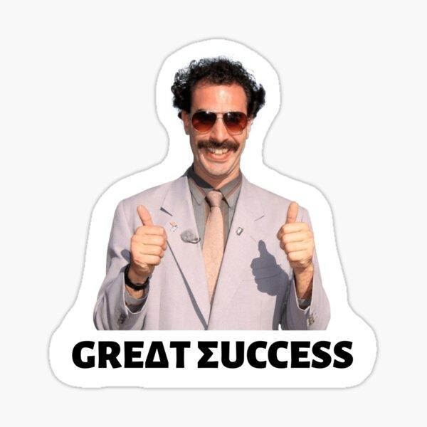 "Borat Delta Sigma ""Great Success"" (no background) Sticker"