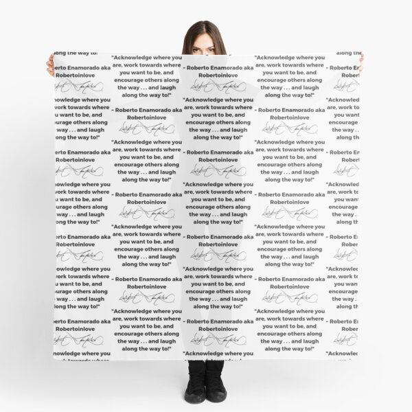 Roberto Enamorado aka Robertoinlove Way of Life Quote Scarf