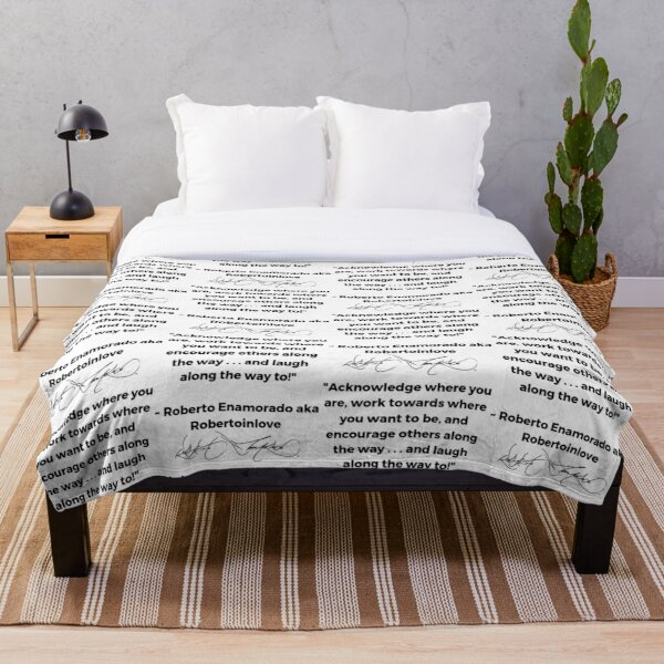 Roberto Enamorado aka Robertoinlove Way of Life Quote Throw Blanket