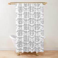 Roberto Enamorado aka Robertoinlove Way of Life Quote Shower Curtain