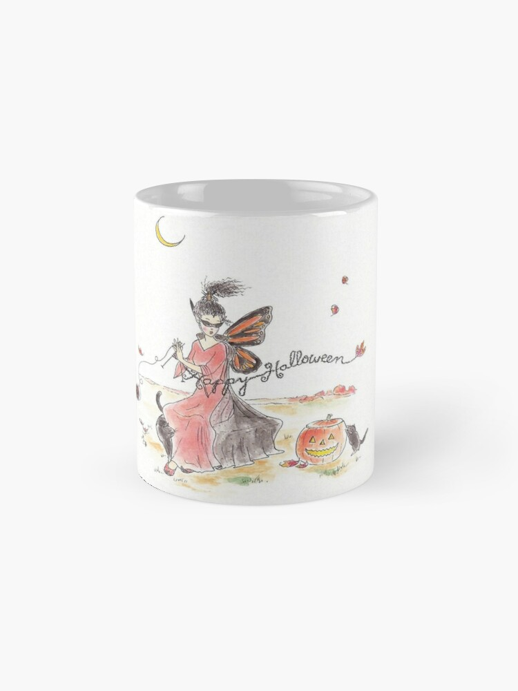 Alternate view of Happy Halloween - The Knittington Fairies Mug