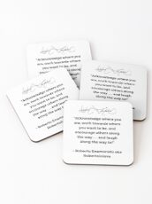 Roberto Enamorado aka Robertoinlove Way of Life Quote Coasters