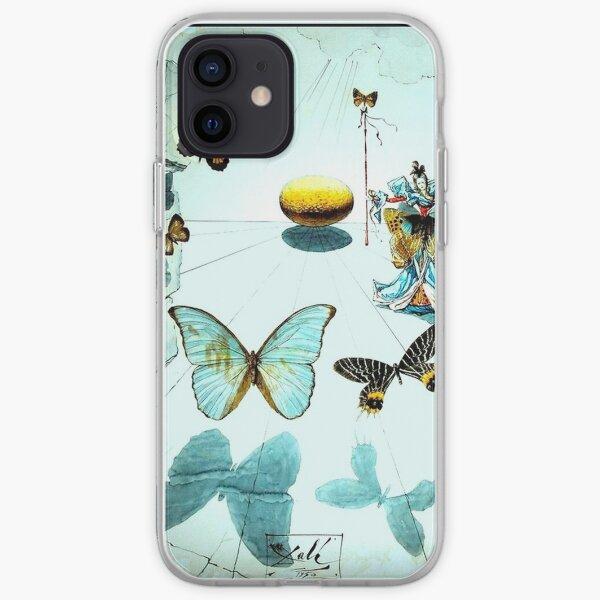 ALLEGORIE DE SOIE Vintage 1950 Dali Butterfly Print iPhone Flexible Hülle
