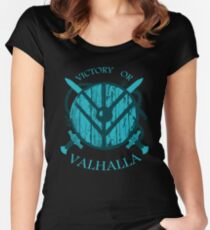 victory or valhalla (3) Women's Fitted Scoop T-Shirt