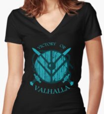 victory or valhalla (3) Women's Fitted V-Neck T-Shirt