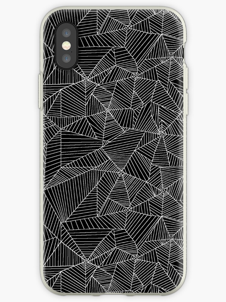 Spiderwebs in black and white by Rebecca Pocai