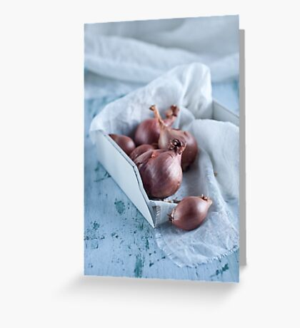 shallots Greeting Card