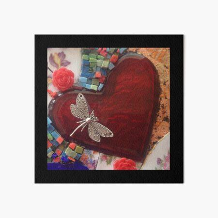 Dragonfly Love Art Board Print