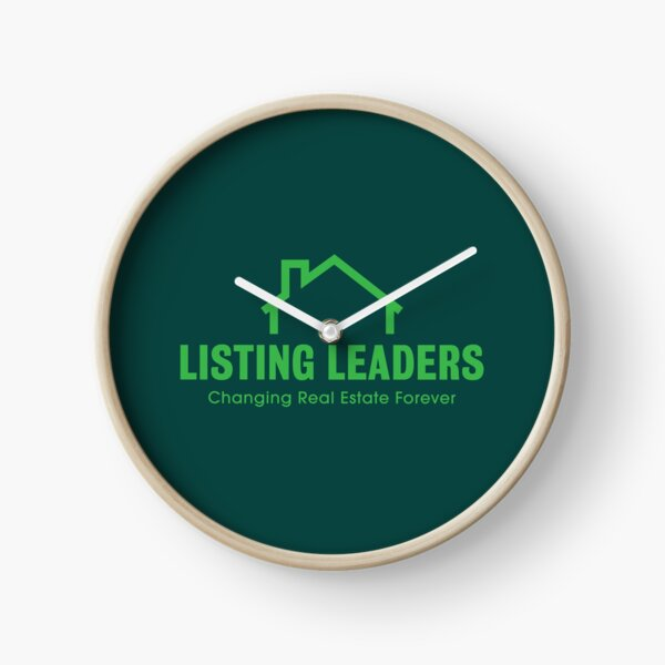 Listing Leaders Dark Clock Clock
