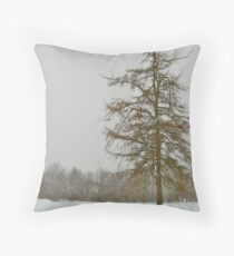 Lonely Hackmatack Throw Pillow