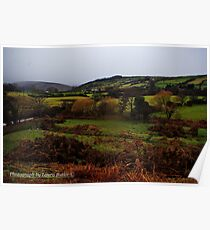 Outlook Over the Glen, Cushendun, County Antrim. Poster
