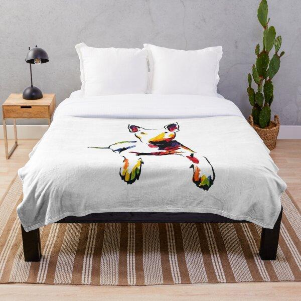 Chuck the Bull Terrier *light Throw Blanket