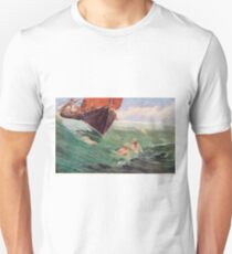 Mermaids luring Sailors to their death on the rocks Unisex T-Shirt