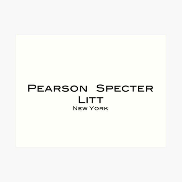 Suits Pearson Specter Litt Logo Art Print