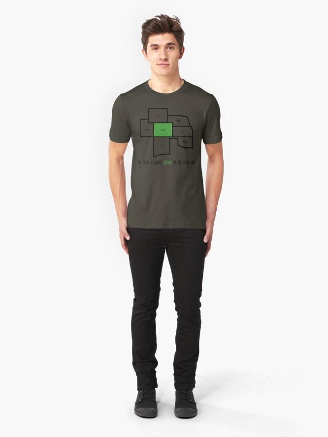 Alternate view of Greener in Colorado Slim Fit T-Shirt
