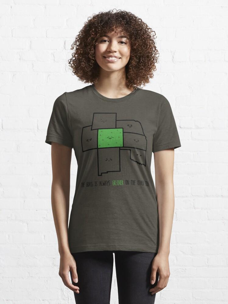 Alternate view of Greener in Colorado Essential T-Shirt