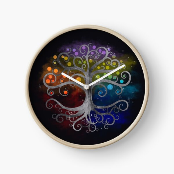 Árbol de la vida Silver Swirl Reloj