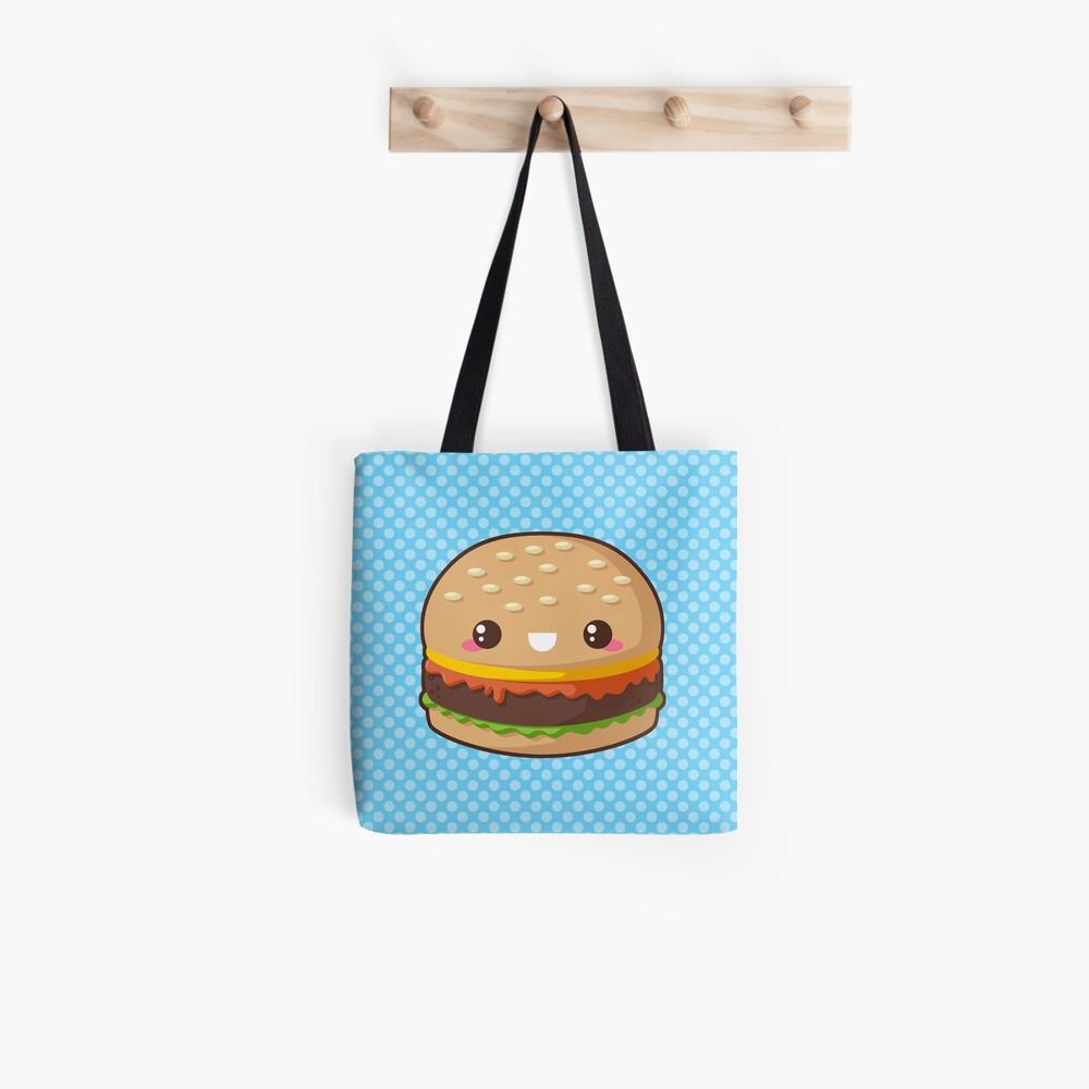Kawaii Cheeseburger Tote Bag