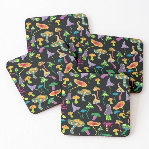 Magic Mushrooms Coasters (Set of 4)