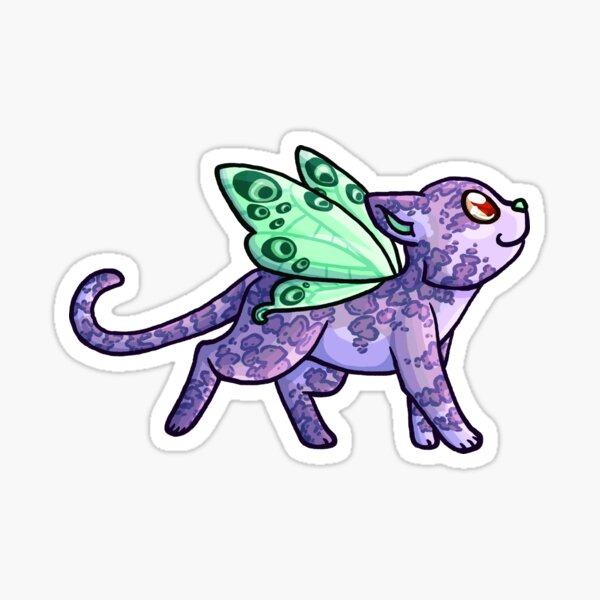 A very sparkly fairy cat Sticker
