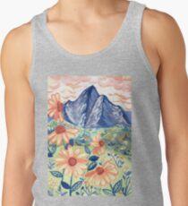 Daisy Gouache Mountain Landscape  Tank Top