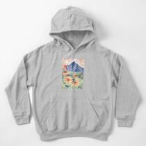 Daisy Gouache Mountain Landscape  Kids Pullover Hoodie