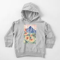 Daisy Gouache Mountain Landscape  Toddler Pullover Hoodie