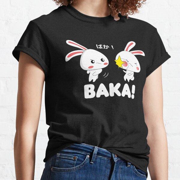 Baka Anime Rabbit Slap Japanese quote senpai  Classic T-Shirt