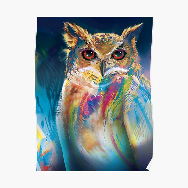 A Colorful Owl Poster