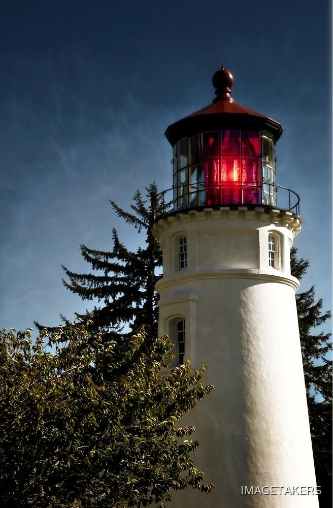 Umpqua River Lighthouse - Red Light by IMAGETAKERS