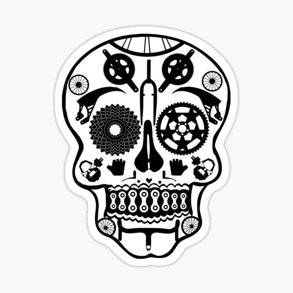 Symmetry skull Sticker
