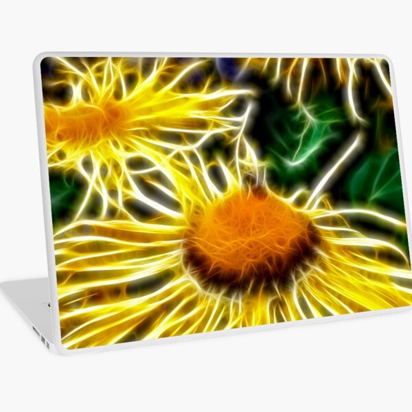 Flames of Elecampane Laptop Skin