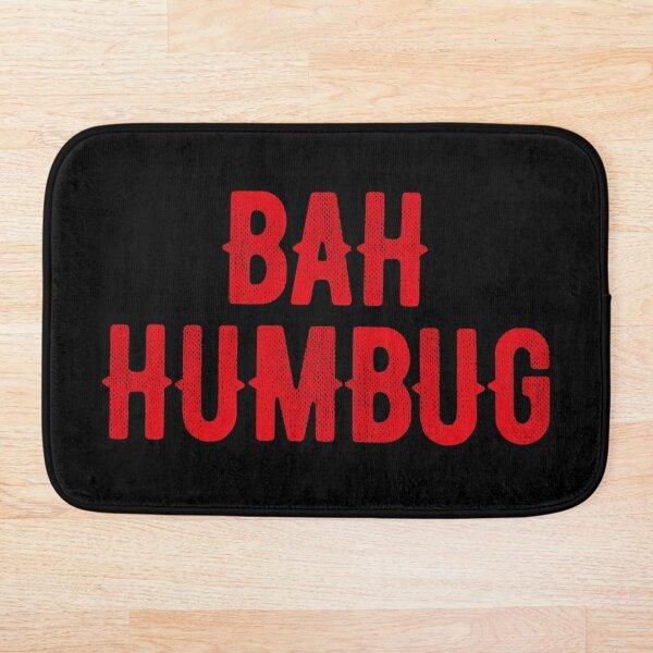 Bah Humbug (red) Bath Mat