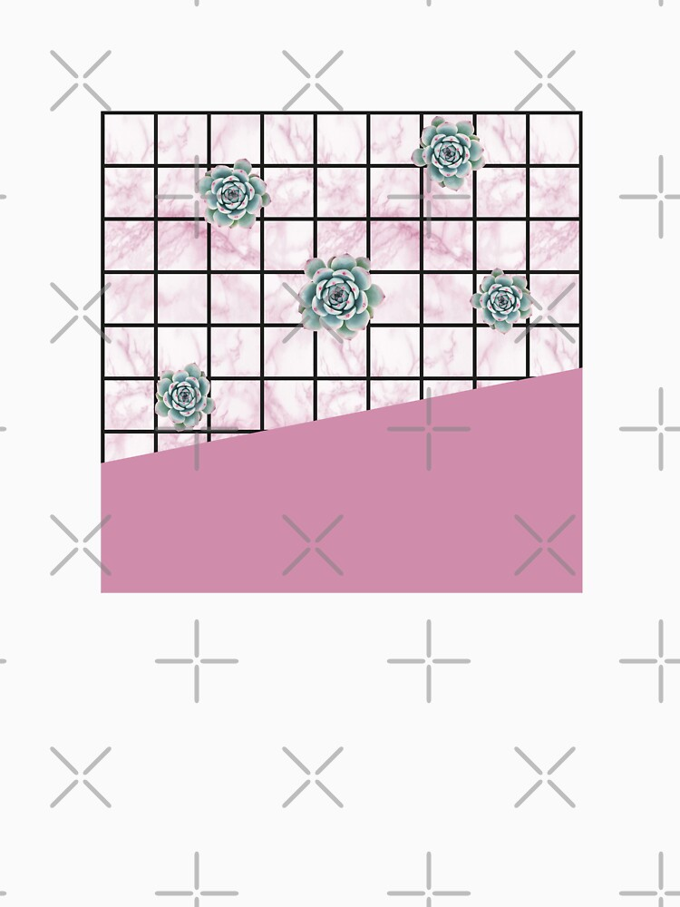 Succulents geometric composition - Antique Pink by PrintablesP