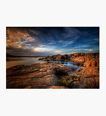 Willow Lake Rock Around Photographic Print