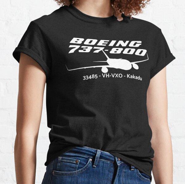 Boeing 737-800 30485 VH-VXO (White Print) Classic T-Shirt