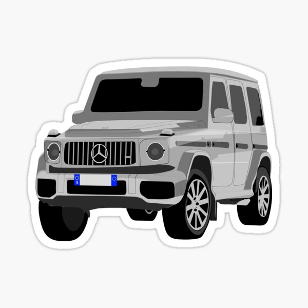4x4 SUV Auto im Gelände Sticker