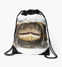 My not so homeless friend, Thelma Drawstring Bag