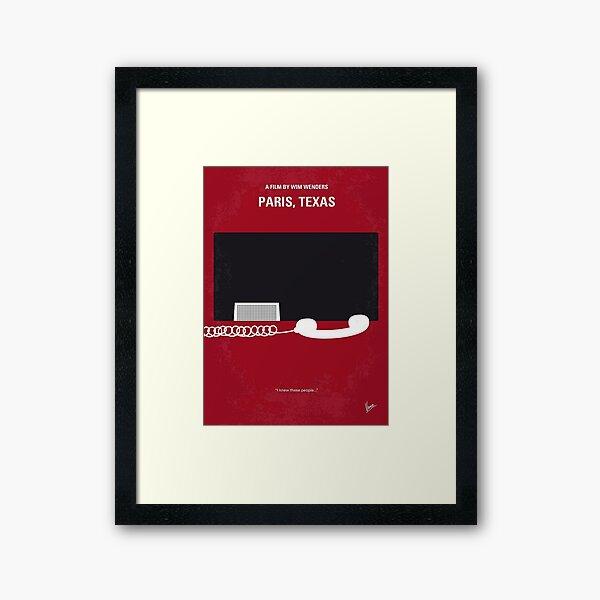 No062 My Paris Texas minimal movie poster  Framed Art Print