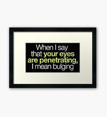 Buffy - Penetrating Eyes Framed Print