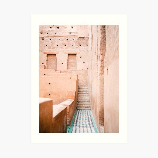 Colors of Marrakech Morocco - El badi palace photo print | Pastel travel photography art Art Print
