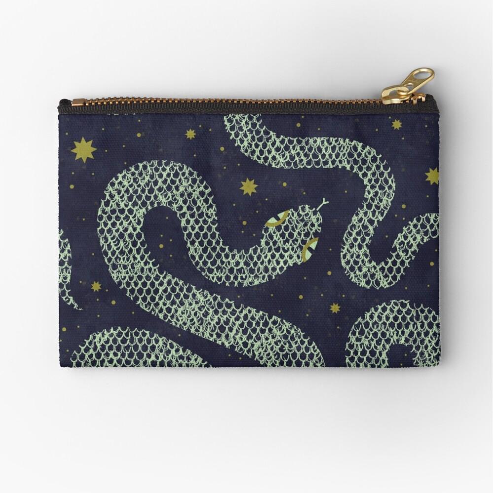 Space Serpent Zipper Pouch