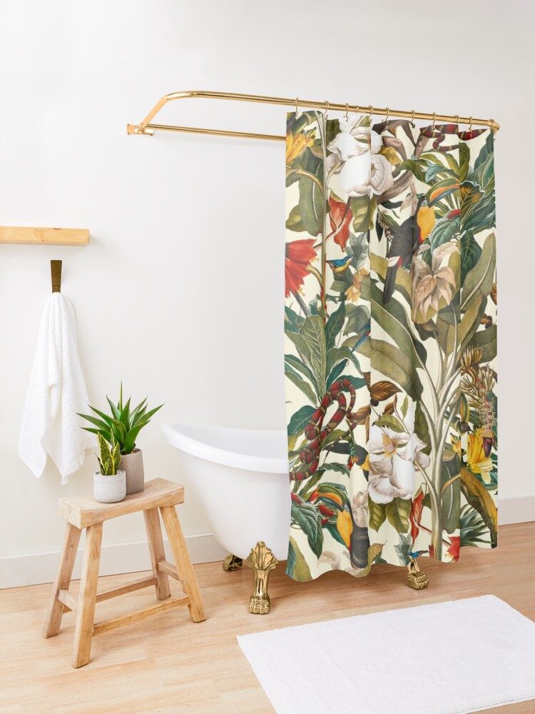 Alternate view of Beautiful Forest IV Shower Curtain