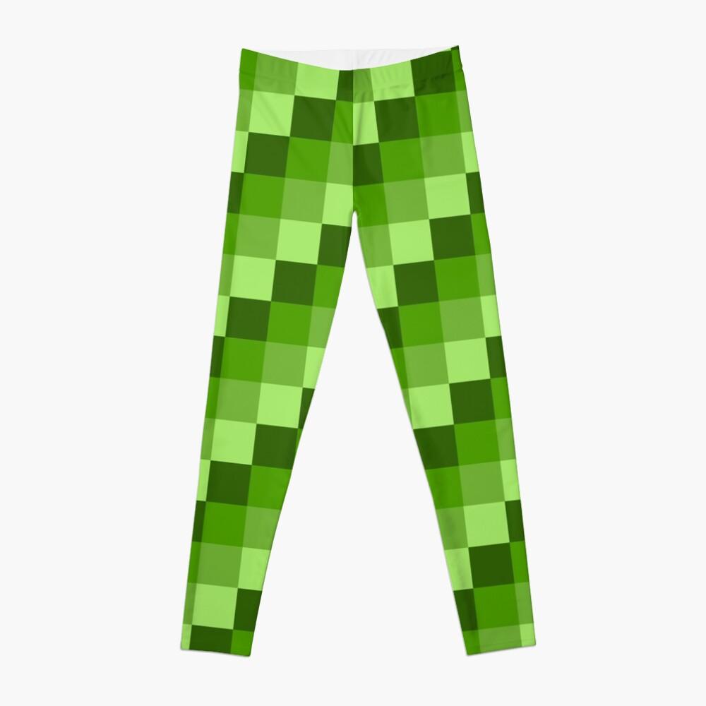 Green Blocks Leggings