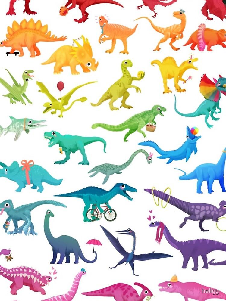 «Rainbow dinos» par hellgy