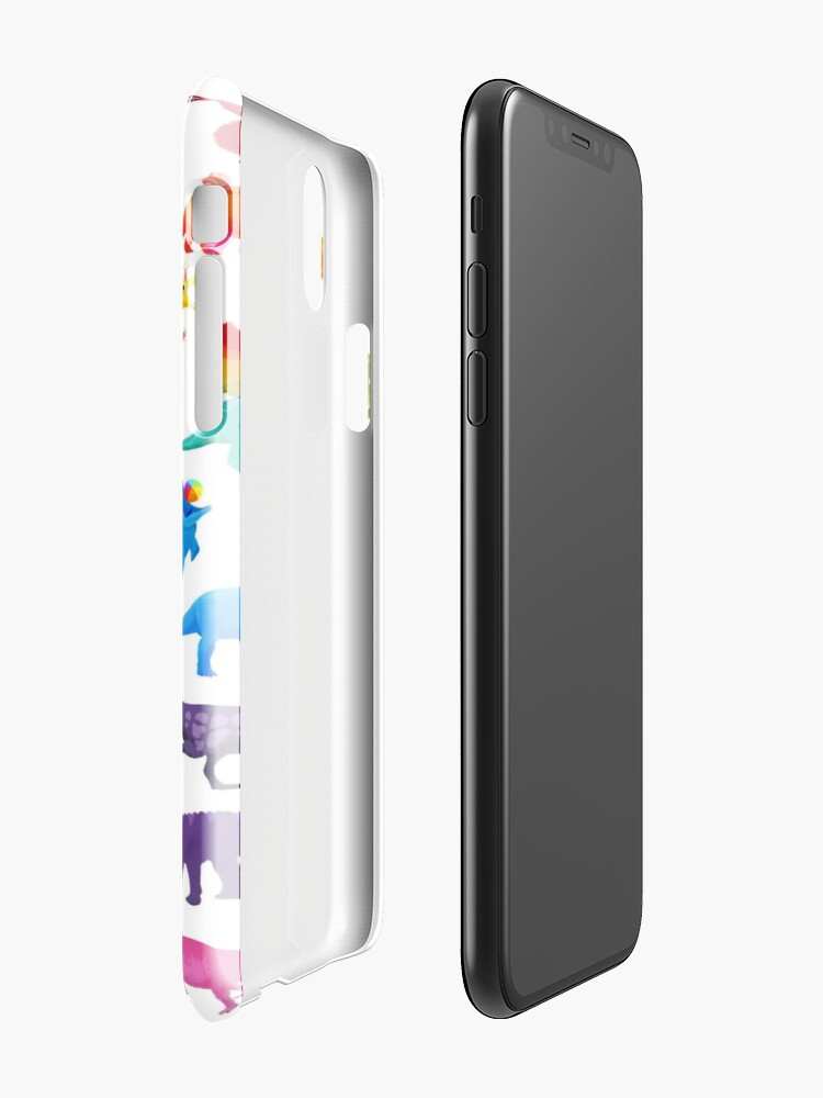 Coque iPhone ''Rainbow dinos': autre vue