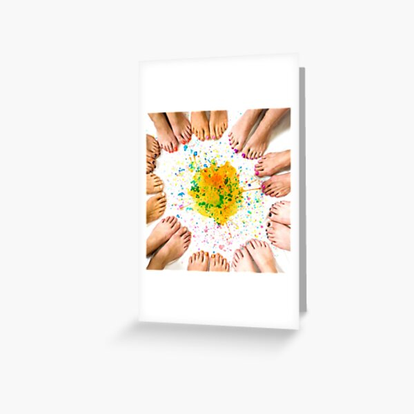 Ten pairs of lovely lady feet Greeting Card