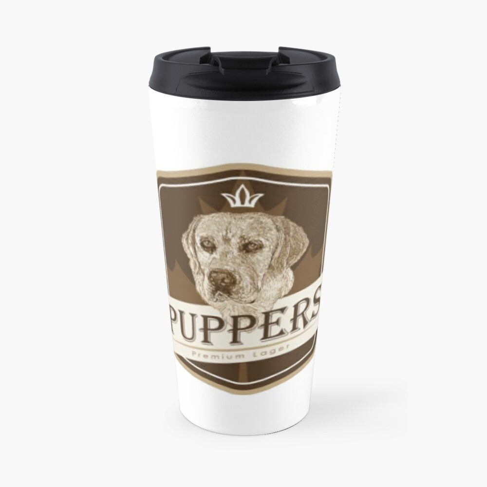 Puppers, Officially Wayne's favourite beer. Travel Mug