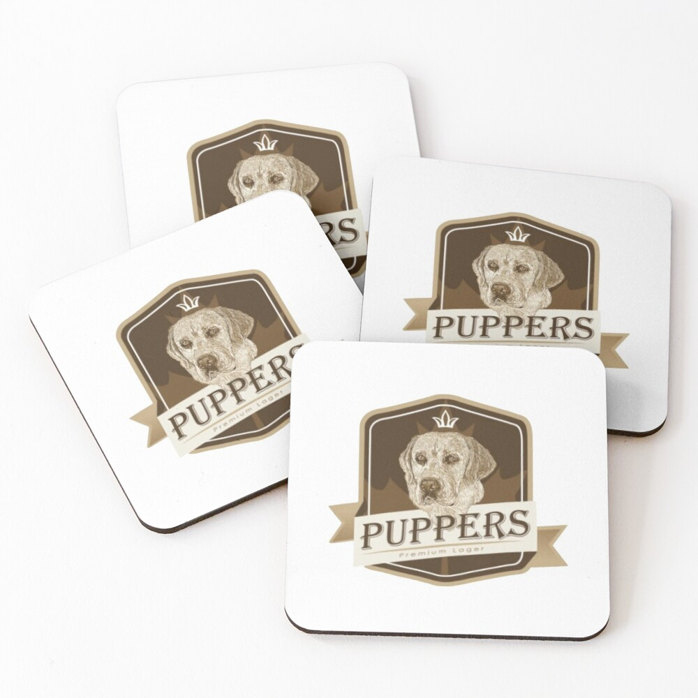 Puppers, Officially Wayne's favourite beer. Coasters (Set of 4)